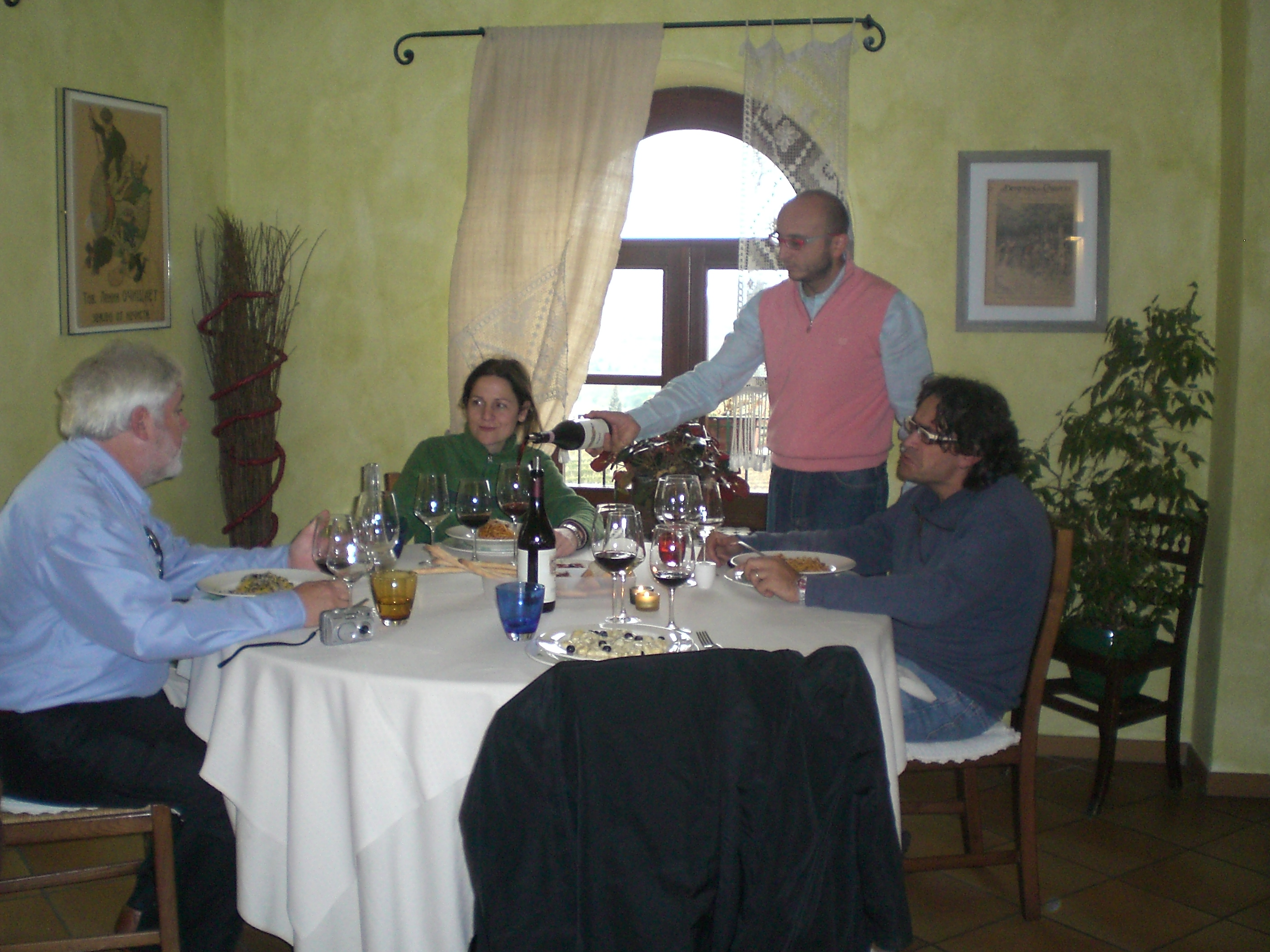 Lunch in Barolo region, Piemonte, Italy with winemaker from Vietti Winery, Luca Currado.
