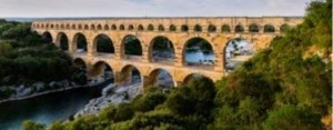 The Pont du Gard in Southern France. Built by the Romans over 2 thousand years ago.