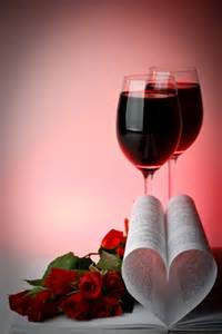 valentines day red wine glasses
